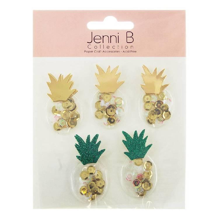Jenni B Sequin Pineapple Stickers