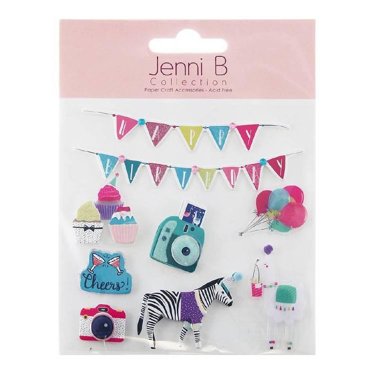 Jenni B Happy Birthday Party Animal Stickers