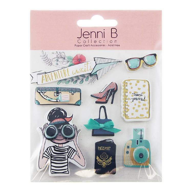 Jenni B Adventure Awaits Stickers
