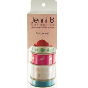 Jenni B Rainbow Bright Tropical Ribbon Tube