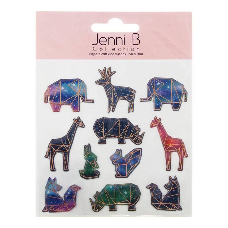 Jenni B Geometric Animals Stickers