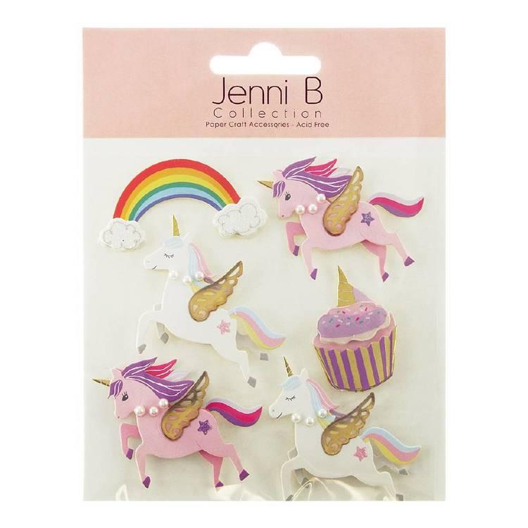 Jenni B Unicorns and Rainbow Stickers
