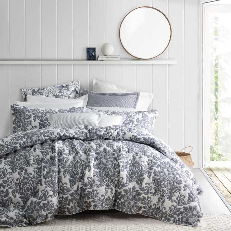Ultima Riviera Quilt Cover Set Denim