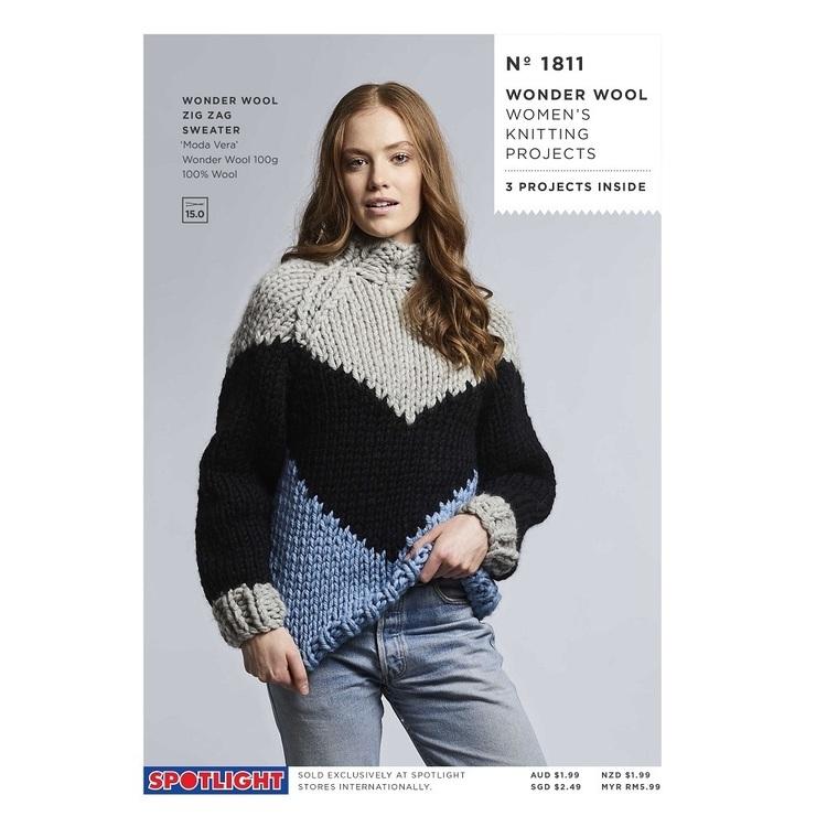 Spotlight Wonderwool Womens Knitting Project #1811