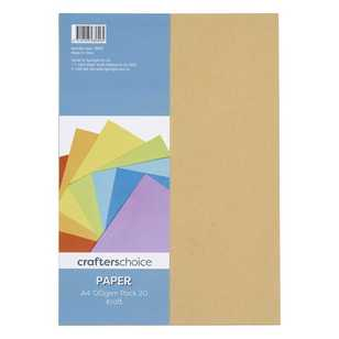 Crafters Choice A4 Paper Kraft 120gsm 20 Pack