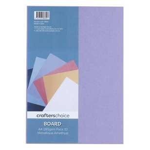 Crafters Choice 285gsm A4 Metallic Board Pack