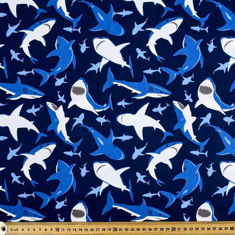 Sharktooth Printed Cotton Poplin Fabric