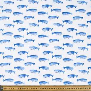 Whale of a Time Printed Cotton Poplin Fabric