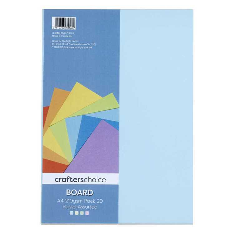 Crafters Choice 210gsm A4 Board Pack