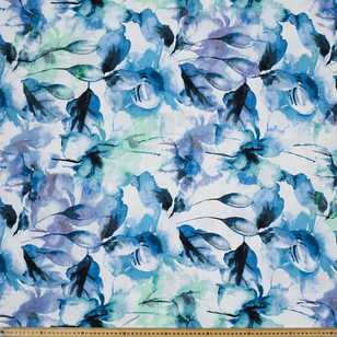 Waterflower Printed Cotton Linen Fabric