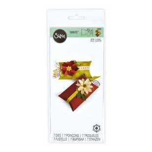 Sizzix Thinlits Pillow & Poinsettias Box Die Cut Set