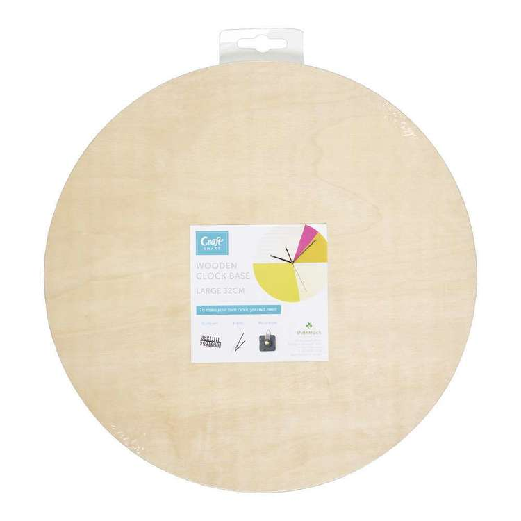 Craftsmart Plywood Round Clock Base