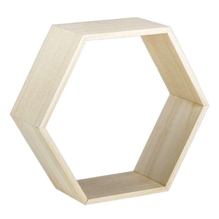 Francheville Hexagonal Wooden Shelf
