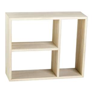 Francheville Rectangular Sectioned Wooden Shelf