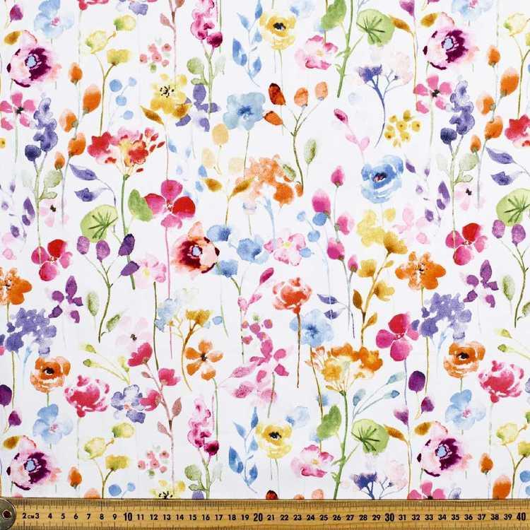 Flowerfall Printed Sateen Fabric