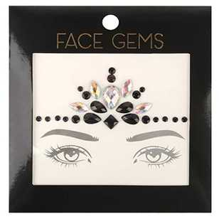 BYS Black and AB Face Gems