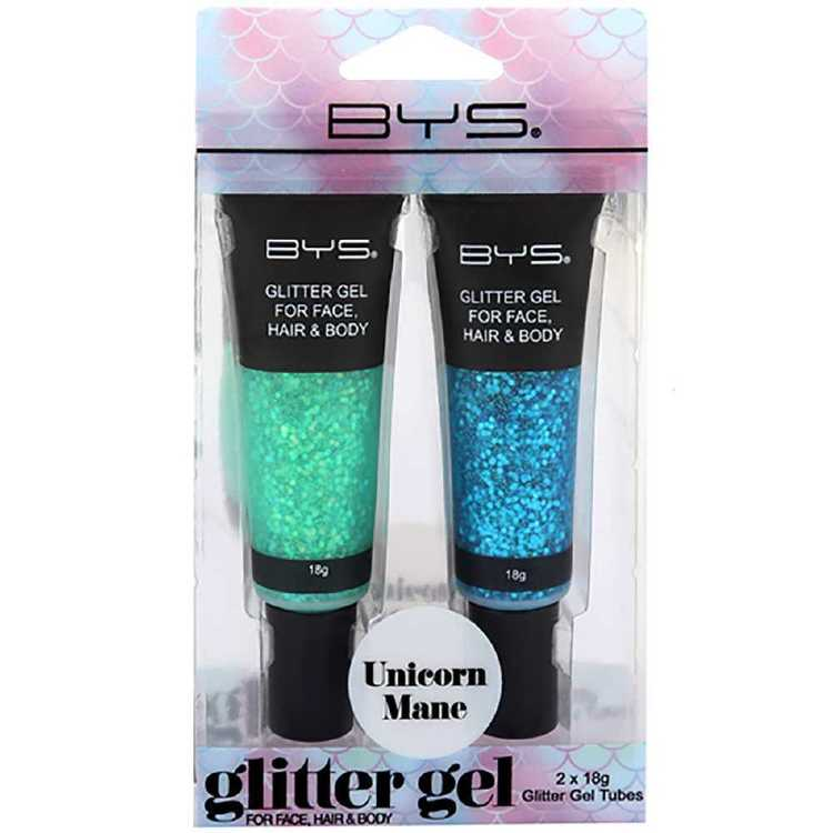 BYS Face and Hair Unicorn Mane Glitter Gel