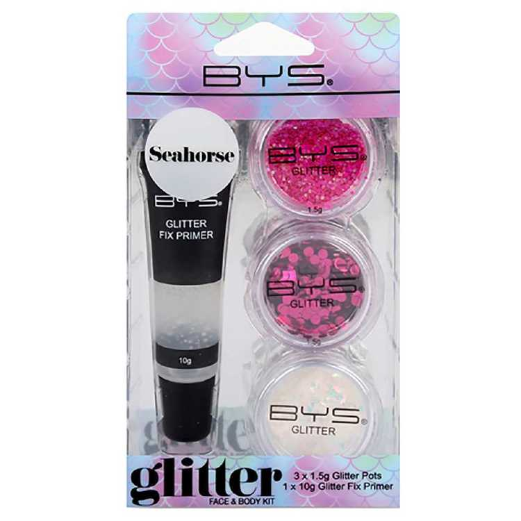 BYS Seahorse Glitter Face and Body Kit Multicoloured