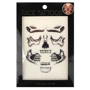 BYS Face Tattoo - Skull