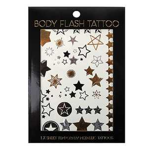 BYS Body Tattoo Metallic Stars