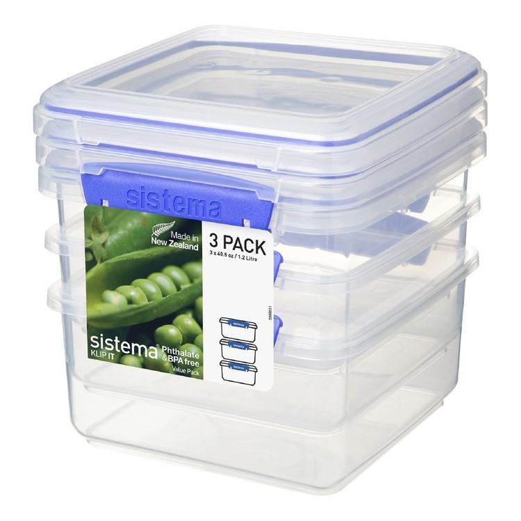Sistema Plus Pack of 3 Container