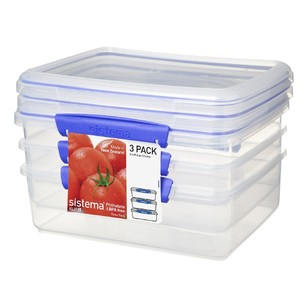 Sistema Rectangular Pack of 3 Container