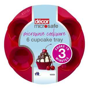 Decor Microsafe 6 Cup Cupcake Tray