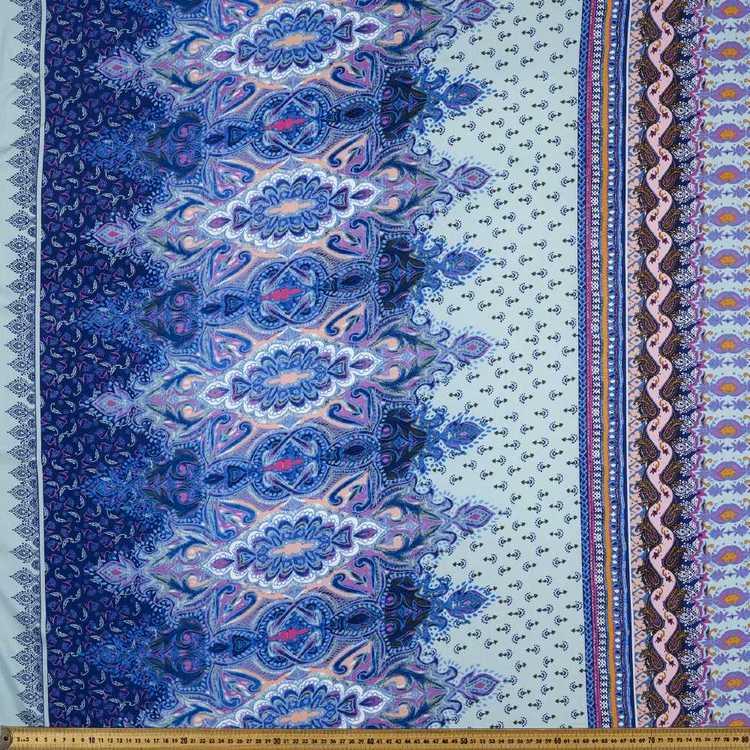 Printed Rayon Borderline Fabric