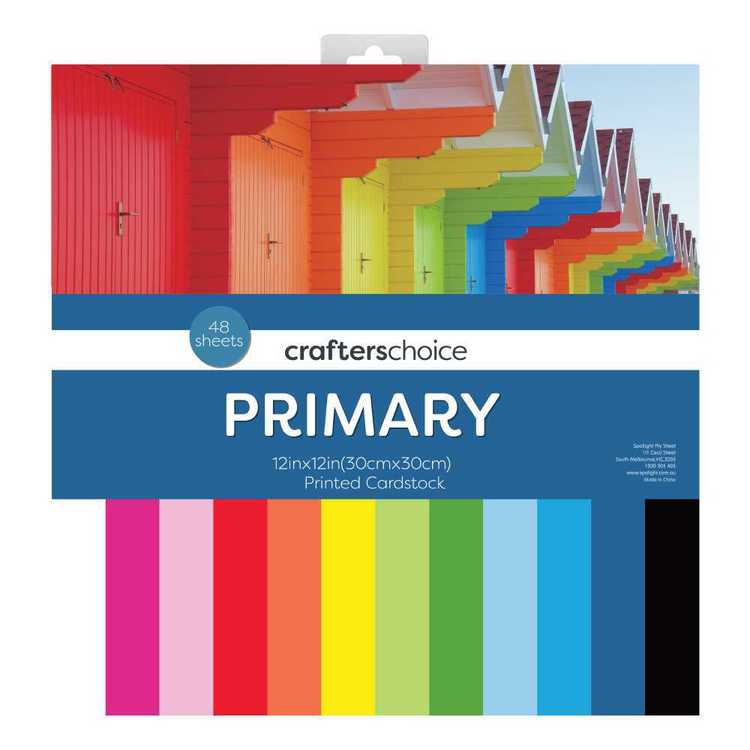 Crafters Choice Primary Paper Pad Multicoloured