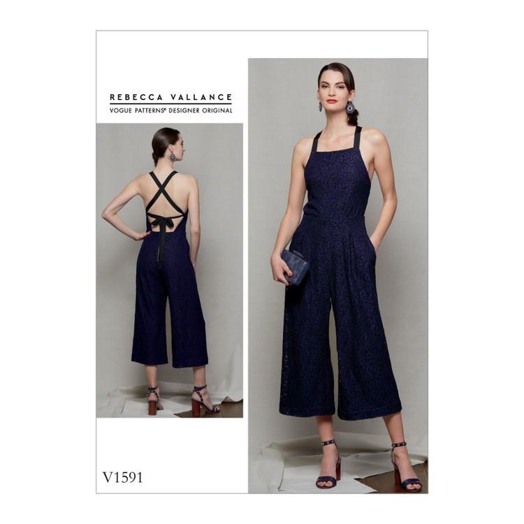 Vogue Pattern V1591 Rebecca Vallance Misses' & Misses' Petite Jumpsuit
