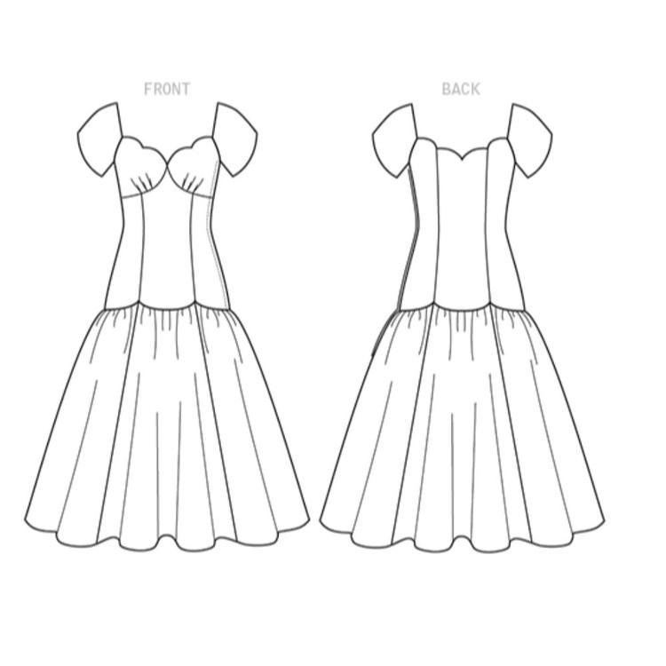 Vogue Pattern V9309 Claire Shaeffer Misses' Dress