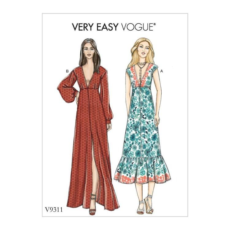 Vogue Pattern V9311 Very Easy Vogue Misses' Dress