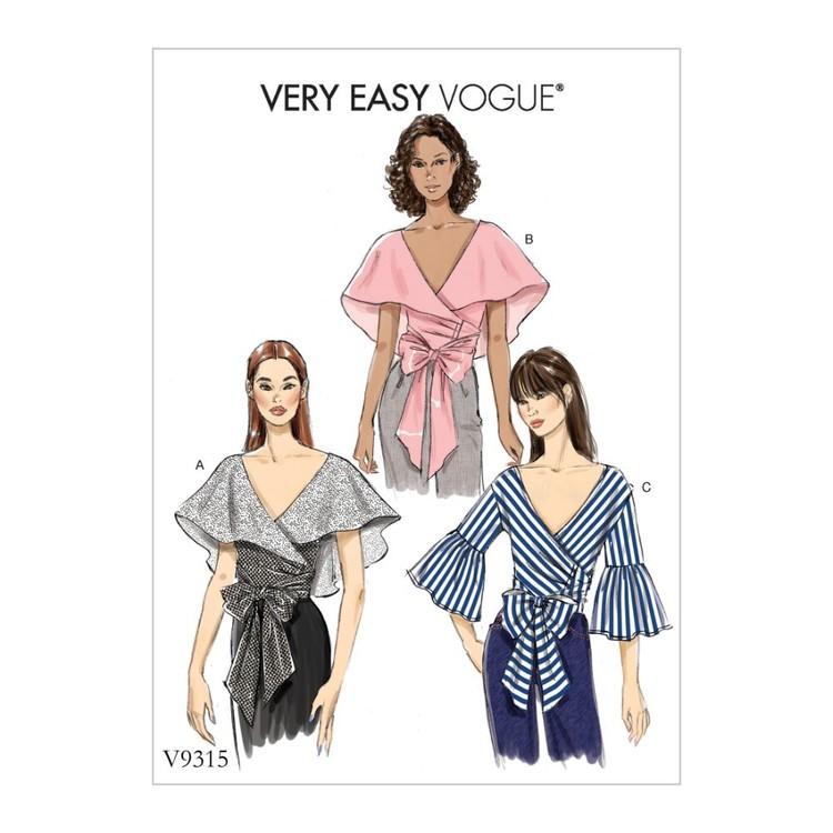 Vogue Pattern V9315 Very Easy Vogue Misses' Top