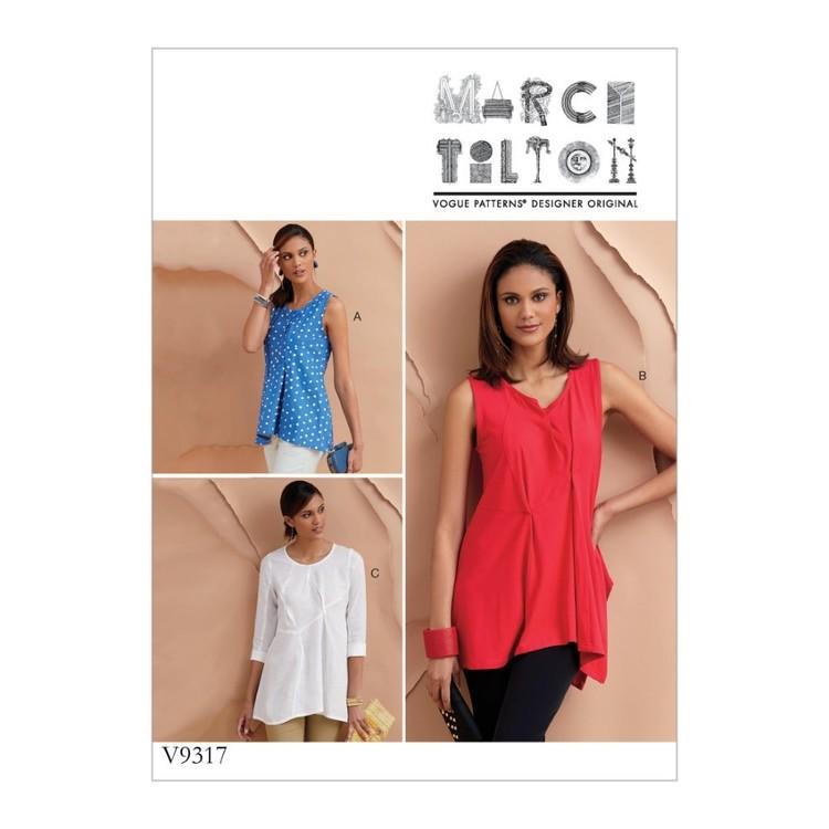 Vogue Pattern V9317 Marcy Tilton Misses' Top