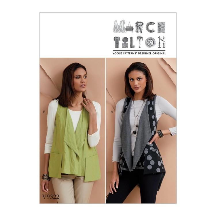 Vogue Pattern V9322 Marcy Tilton Misses' Vest