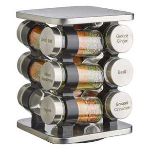 Cooper & Co Spice Rack Rotating Base Stainless Steel