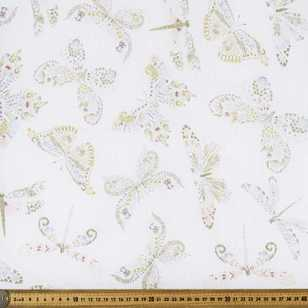 Free Flight Printed Muslin Fabric