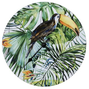 Ombre Home Neon Tropics Bird Clock