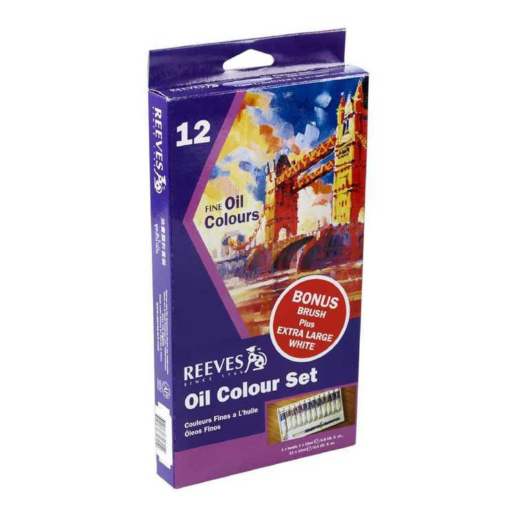 Reeves Oil Art Set With Brush