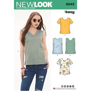 New Look Pattern 6543 Misses' Easy Tops