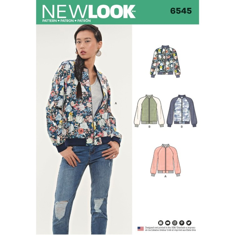 New Look Pattern 6545 Misses' Flight Jacket