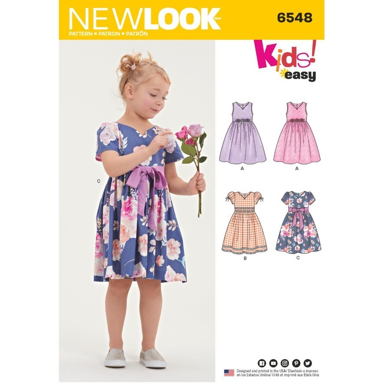 New Look Pattern 6548 Child's Party Dress