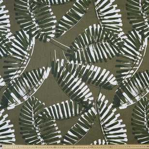 Camouflage Fern Printed 130 cm Cotton Linen Fabric