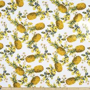 Pineapple Punch Printed 130 cm Cotton Linen Fabric