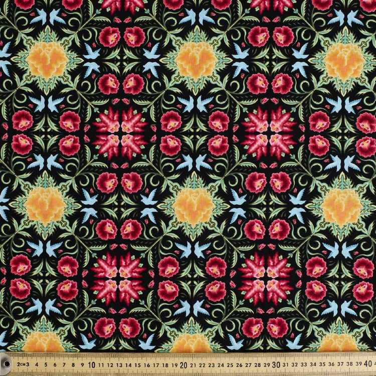 Frida Kahlo Geo Floral Fabric