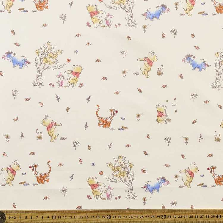 Winnie The Pooh & Co All Over Fabric Natural 112 cm