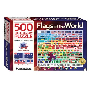 Hinkler 500 Piece Jigsaw - Flags of World