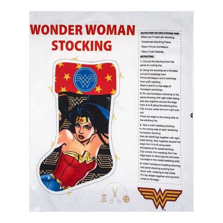 Christmas Stocking Wonder Woman Panel