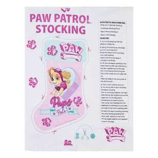 Christmas Stocking Paw Patrol Girls Panel