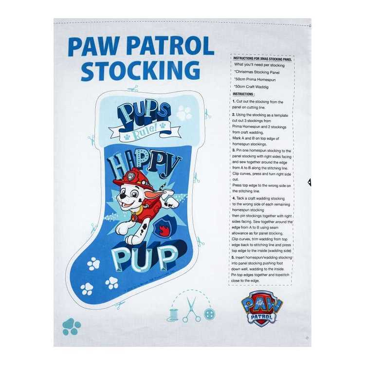 Christmas Stocking Paw Patrol Boys Panel